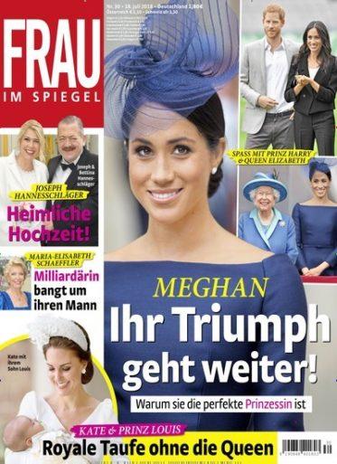 Frau im Spiegel Zeitschrift